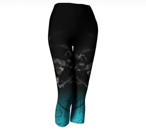 Three Sisters Leggings and Capris, Aqua Bottom