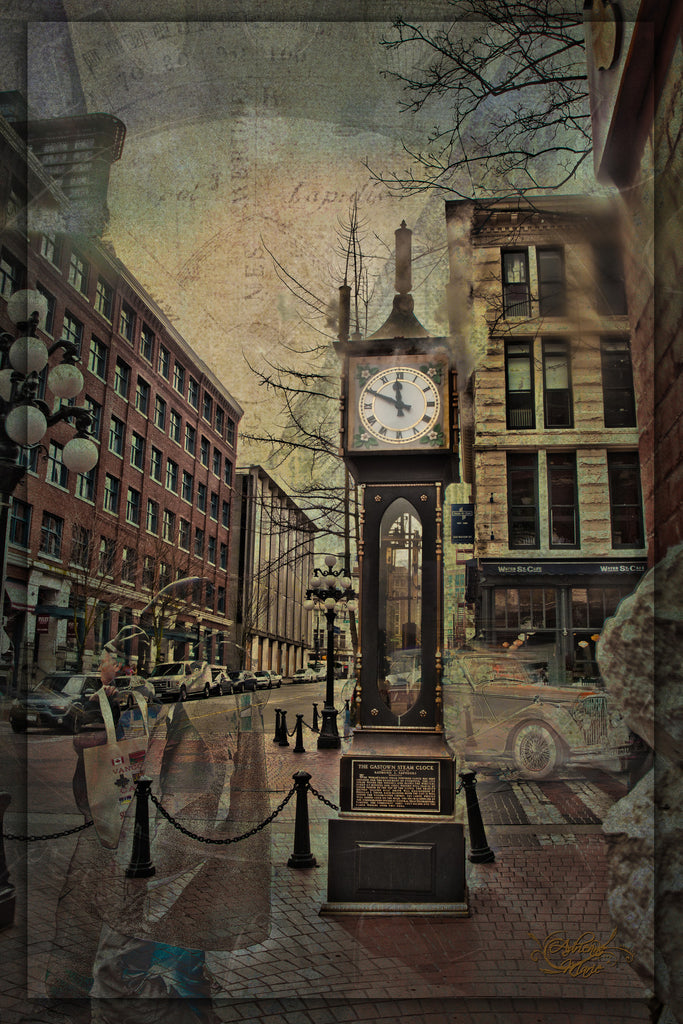 Time Travel Brushed Metal Wall Print