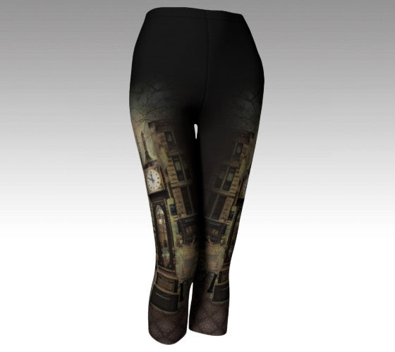 Time Travel: Steam Clock Leggings + Capri