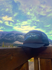 My Blue Yam Trucker Hat: Mt Yamnuska