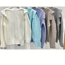 Load image into Gallery viewer, Shoulder pad knit sweater