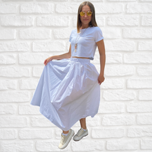 Load image into Gallery viewer, Ankle-length viscose skirt