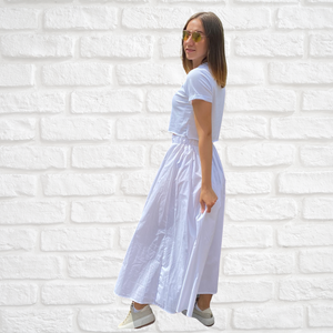 Ankle-length viscose skirt