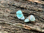 Load image into Gallery viewer, Amazonite Wire-Wrapped Gemstone Earring Studs