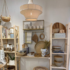 Natural wicker home accessories