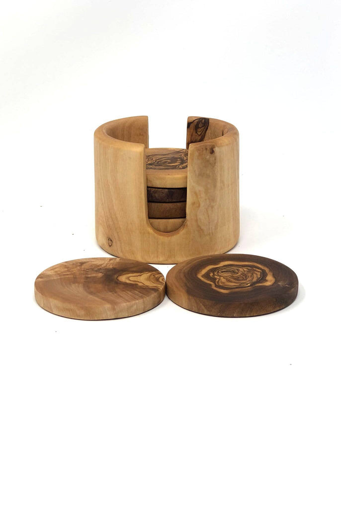 Scents and Feel - Olive Wood Coasters and Its Box - Set of 6 - GRACEiousliving.com