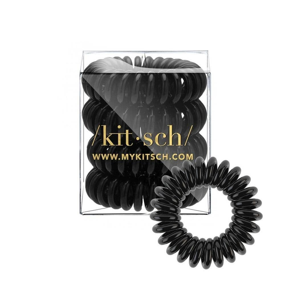 KITSCH - Black Hair Coils - Pack of 4 - GRACEiousliving.com