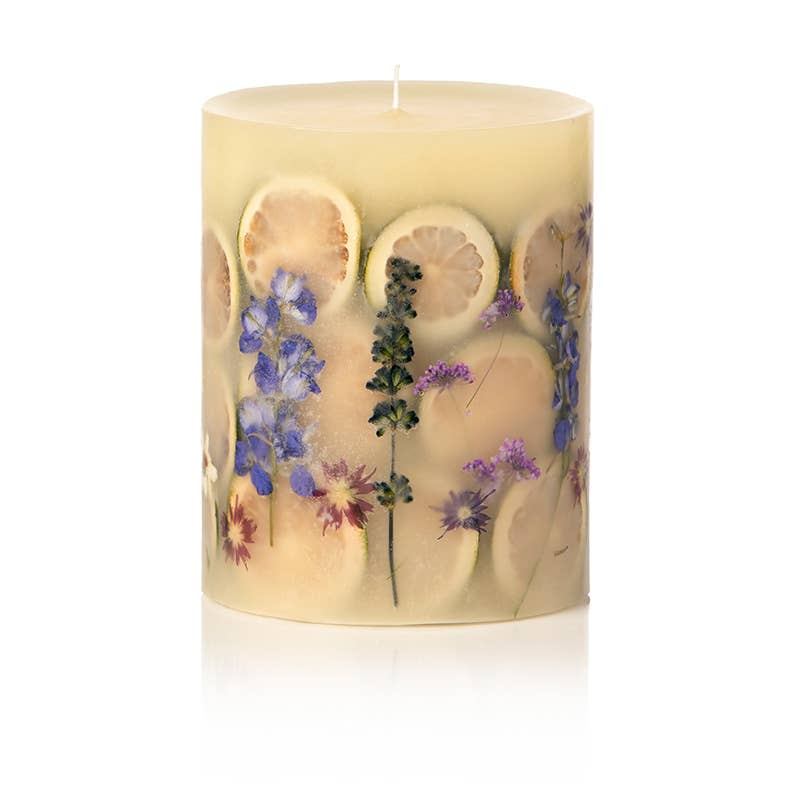 Rosy Rings - Roman Lavender Small Round Botanical Candle - GRACEiousliving.com