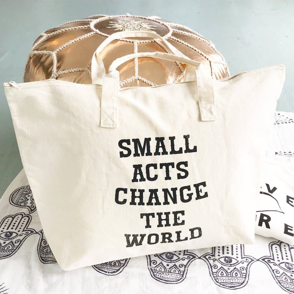 SuperLoveTees - Small Acts Change The World - Carry All Bag - GRACEiousliving.com