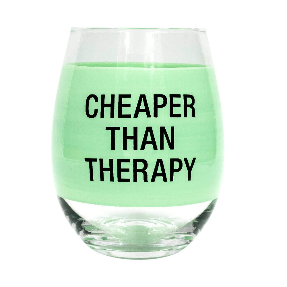About Face Designs - Therapy Wine Glass - GRACEiousliving.com