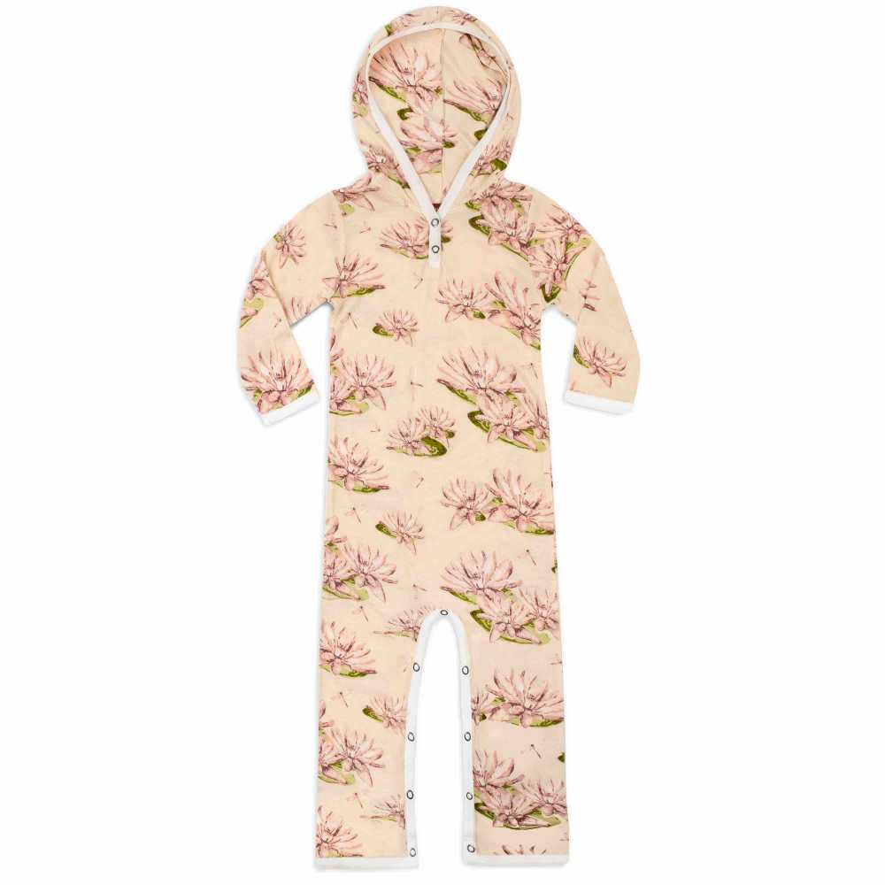 MilkBarn® Water Lily Hooded Romper - GRACEiousliving.com