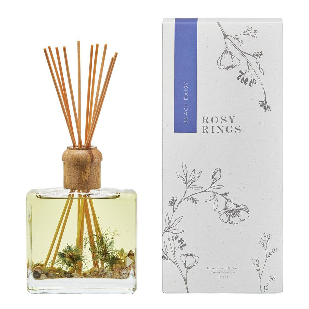 Rosy Rings - Beach Daisy Botanical Reed Diffuser - GRACEiousliving.com