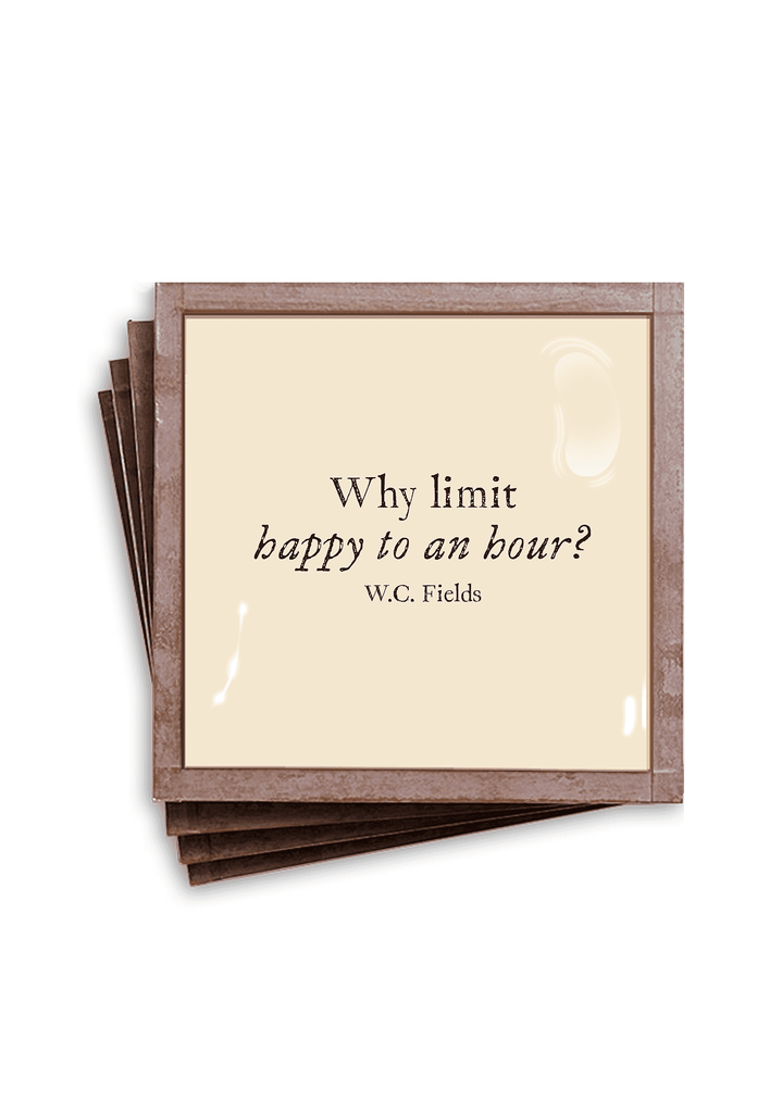 Ben's Garden - Why Limit Happy Copper & Glass Coasters, Set of 4 - GRACEiousliving.com