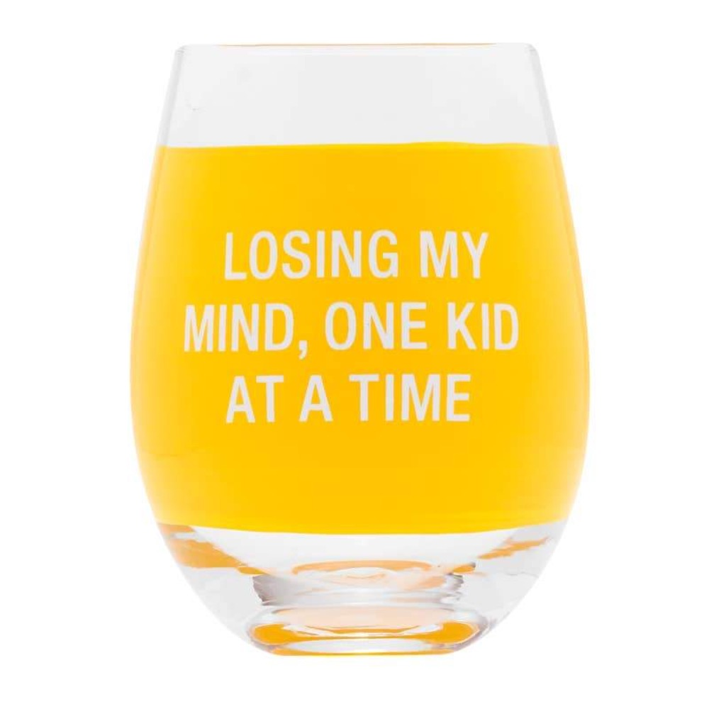 About Face Designs - Losing My Mind Wine Glass - GRACEiousliving.com