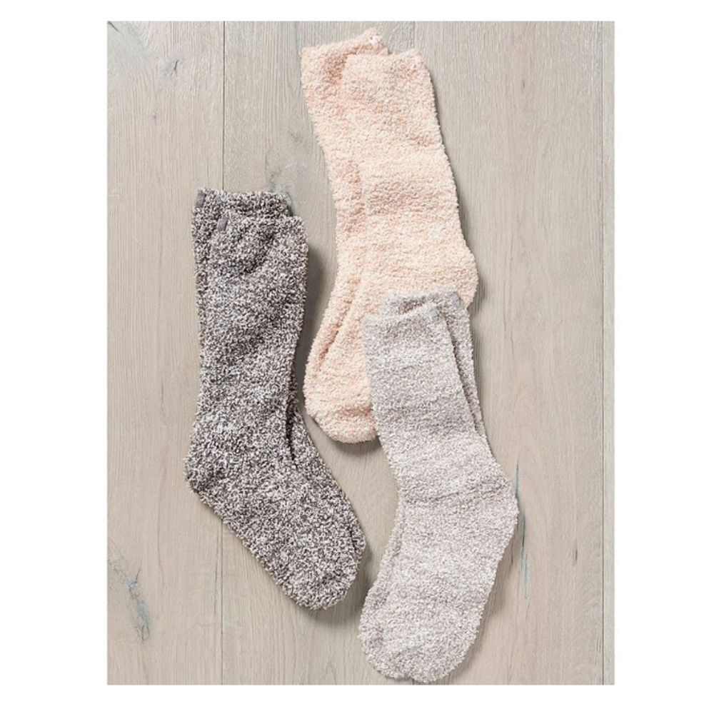 Barefoot Dreams® Women's Heathered Socks One Size Fits All - GRACEiousliving.com