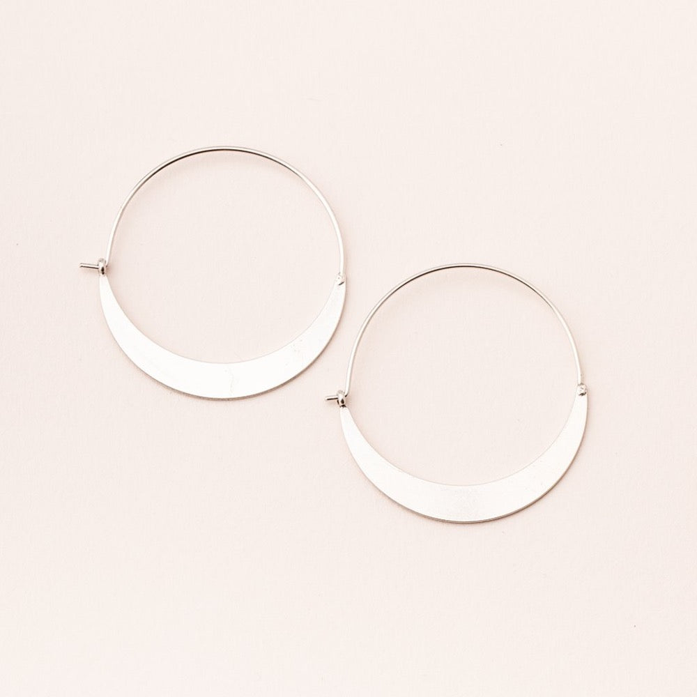 Scout® Refined Earring Collection - Crescent Hoop/Sterling Silver - GRACEiousliving.com
