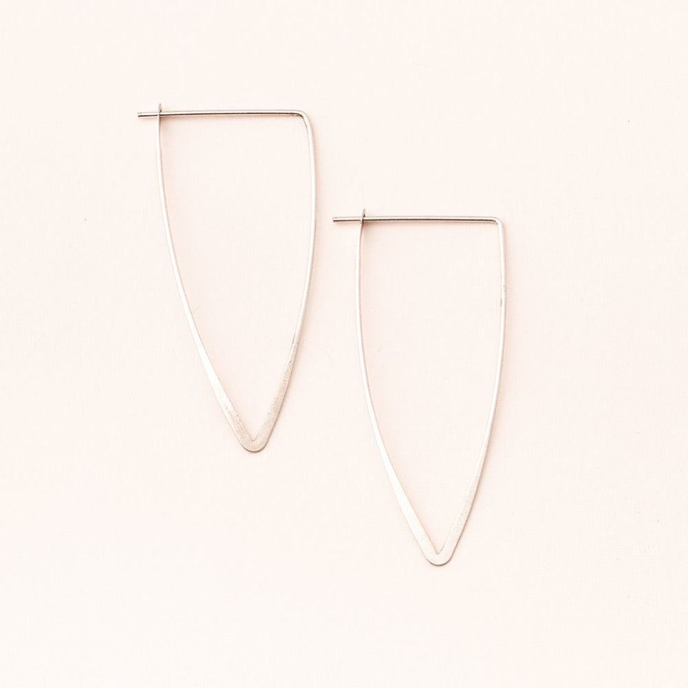 Scout® Refined Earring Collection - Galaxy Triangle/Sterling Silver - GRACEiousliving.com
