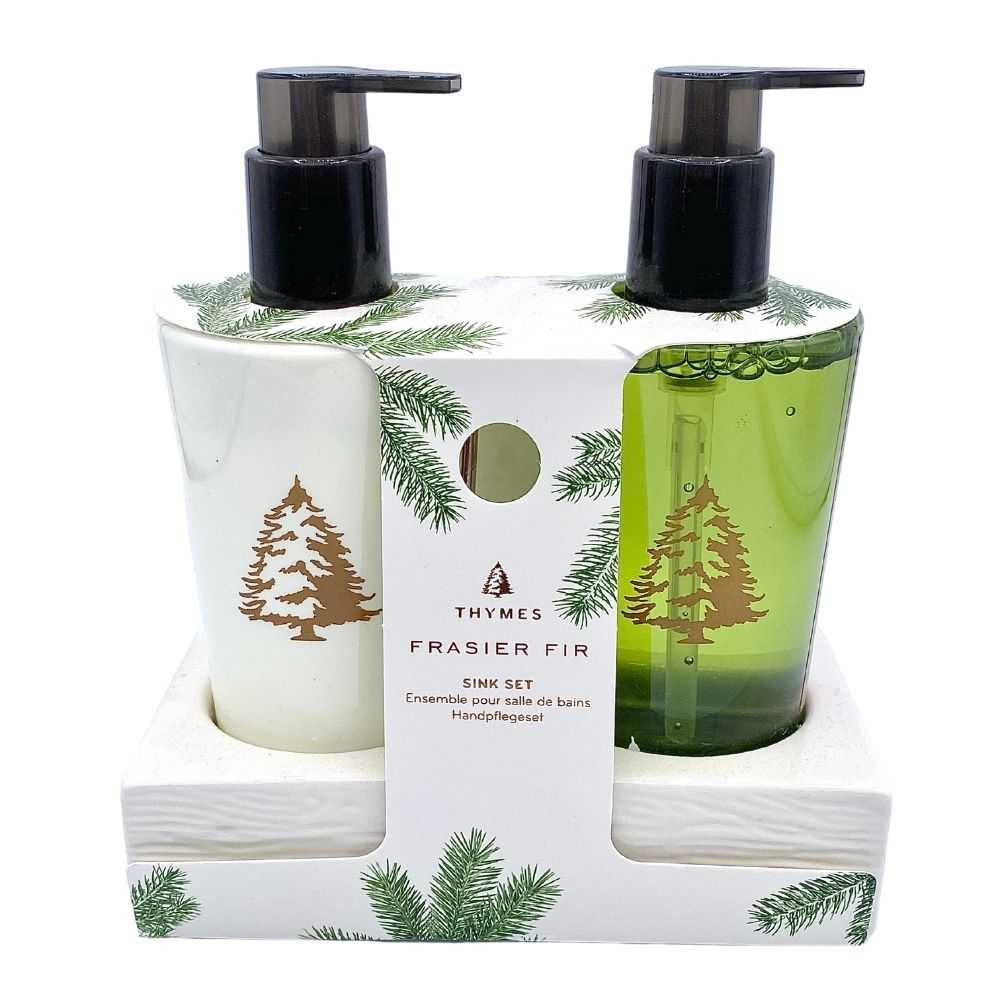 Thymes® Frasier Fir Sink Set - GRACEiousliving.com