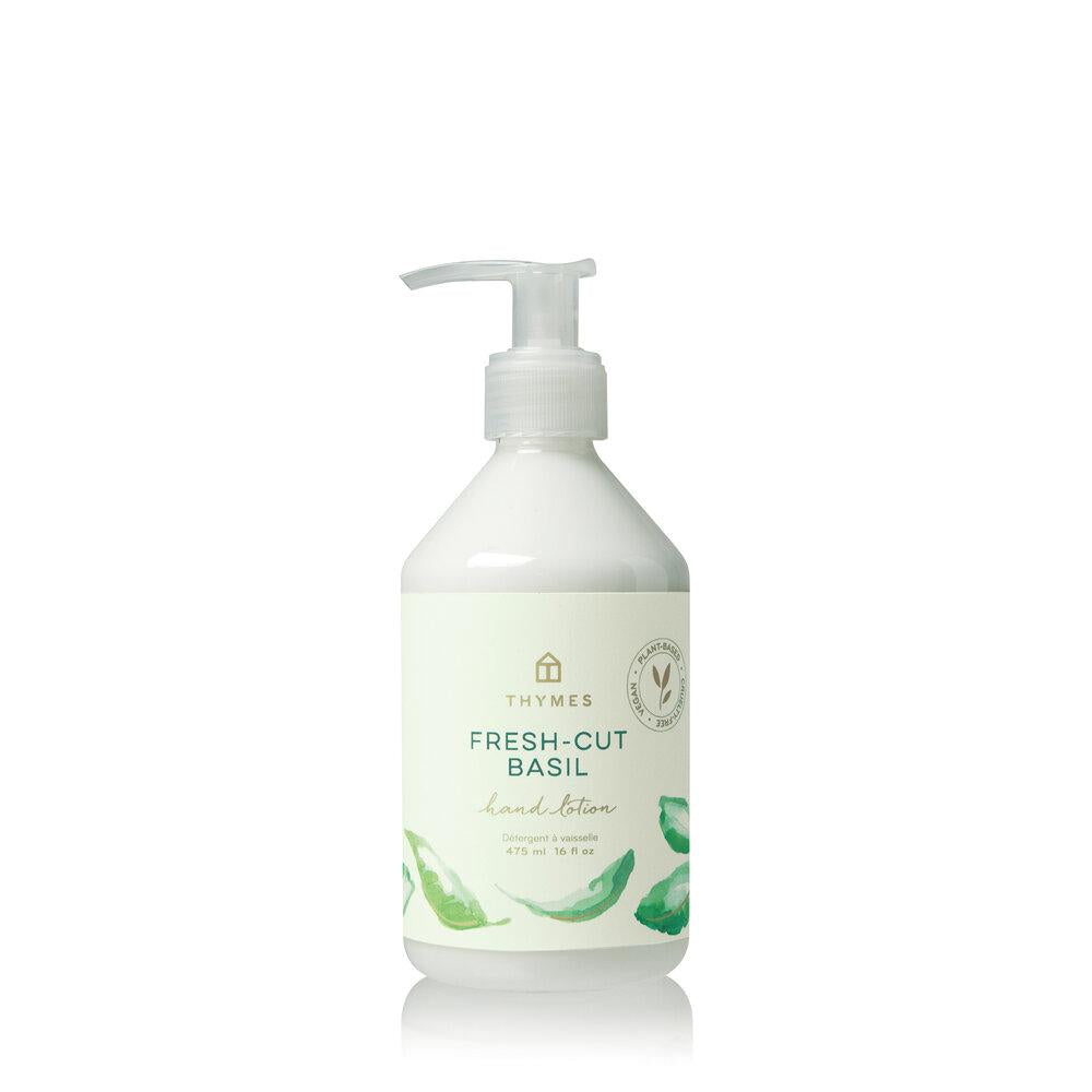 Thymes Fresh Cut Basil Hand Lotion - GRACEiousliving.com