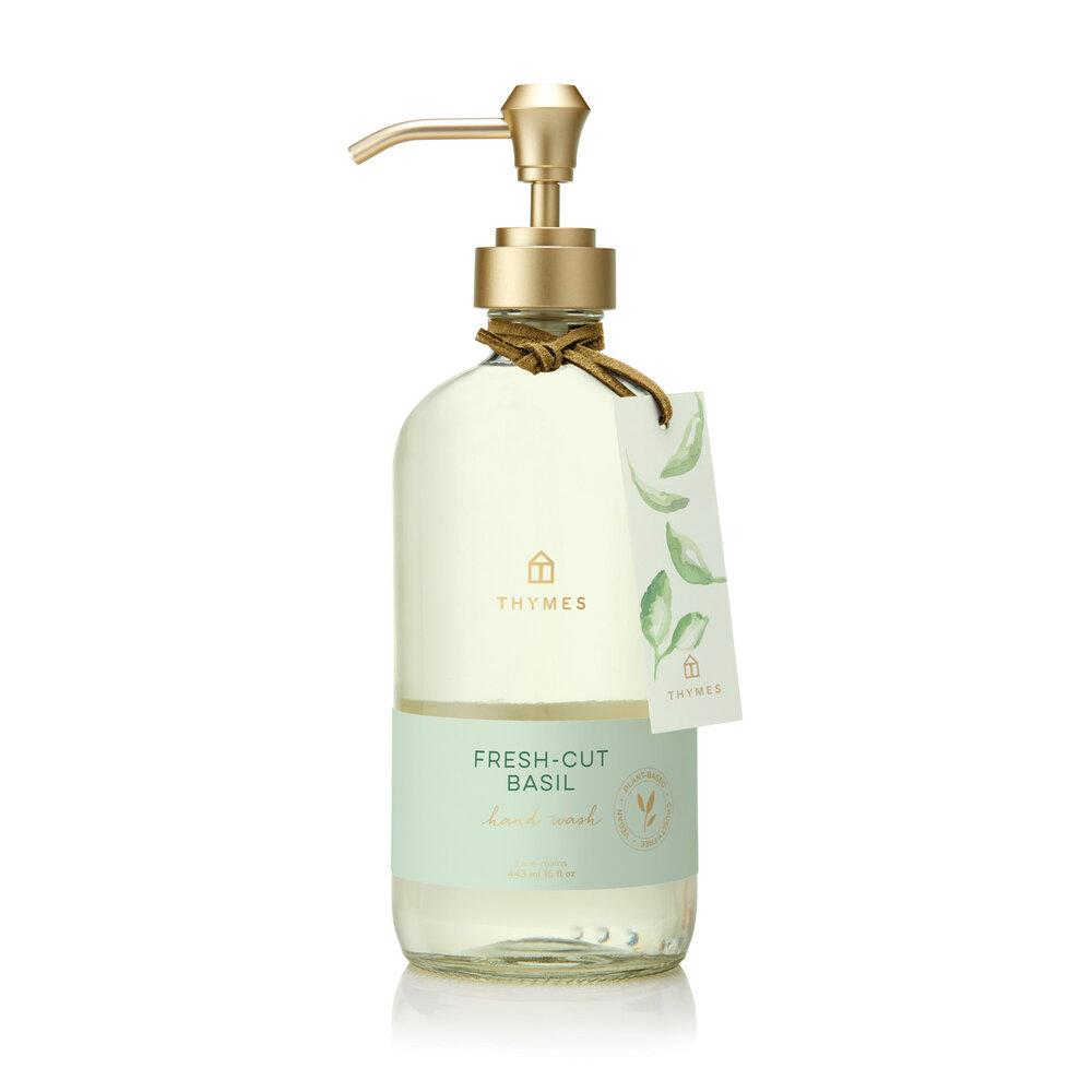 Thymes Fresh Cut Basil Large Hand Wash - GRACEiousliving.com