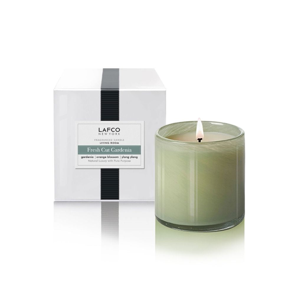 LAFCO® Fresh Cut Gardenia Classic 6.5 oz. Candle - GRACEiousliving.com