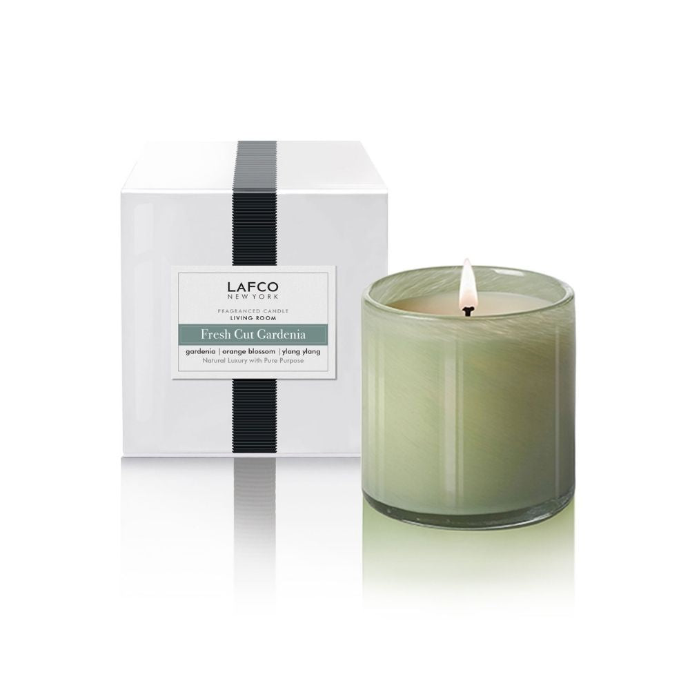 LAFCO® Fresh Cut Gardenia Signature 15.5 oz. Candle - GRACEiousliving.com
