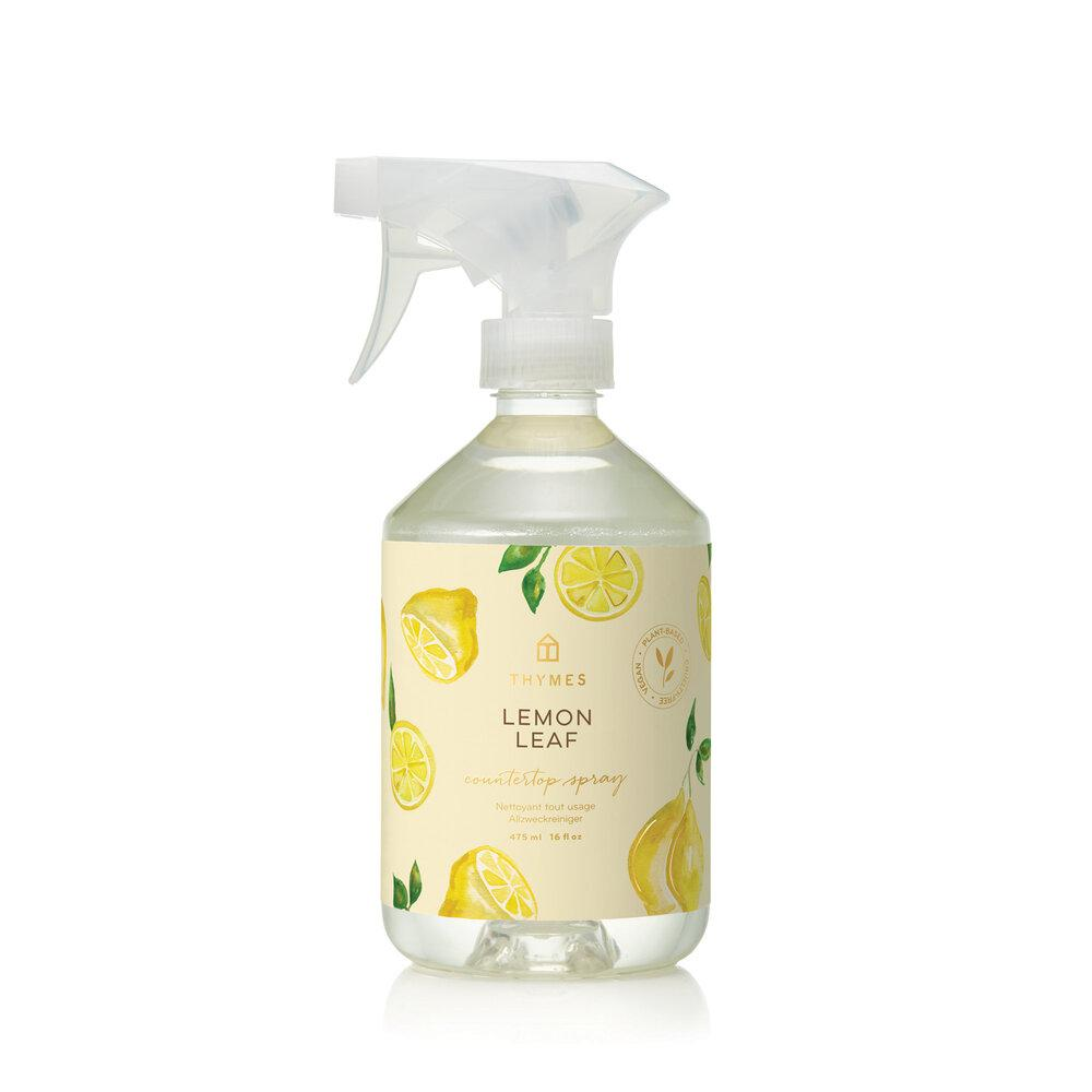 Thymes Lemon Leaf Countertop Spray - GRACEiousliving.com