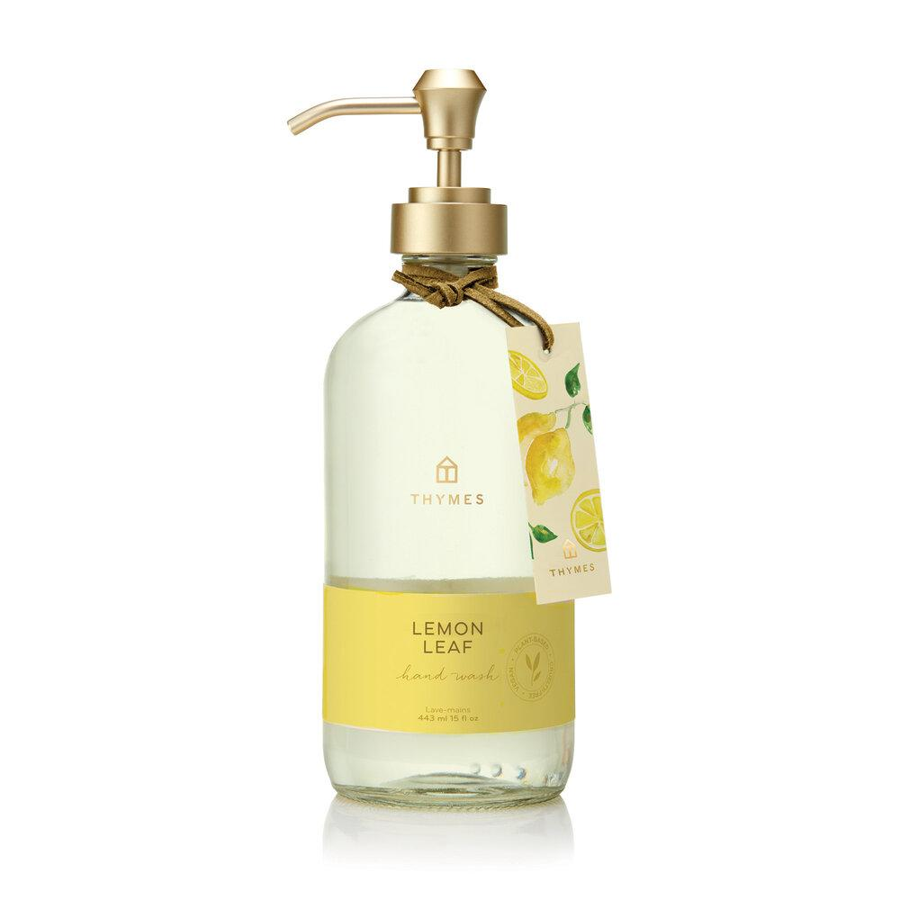 Thymes Lemon Leaf Hand Wash Large - GRACEiousliving.com