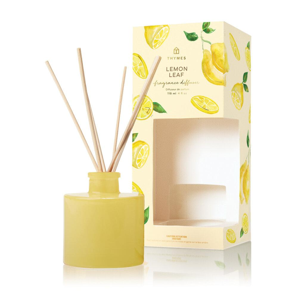 Thymes Lemon Leaf Reed Diffuser - GRACEiousliving.com