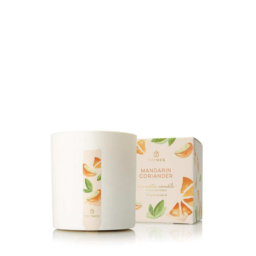 Thymes Mandarin Coriander Poured Candle - GRACEiousliving.com