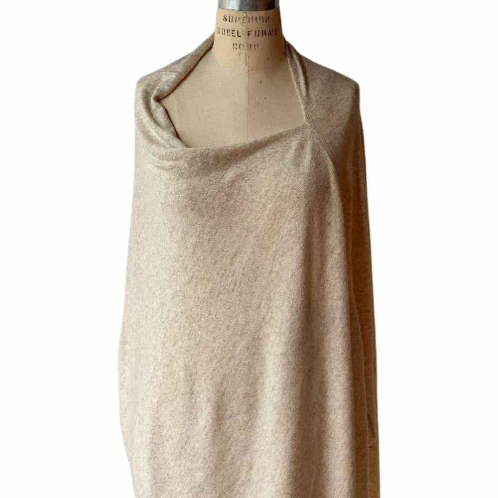 Cashmere Poncho in Oatmeal - GRACEiousliving.com