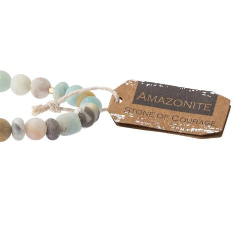 Scout® Amazonite Stone Bracelet - Stone of Courage - GRACEiousliving.com