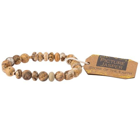 Scout® Picture Jasper Stone Bracelet - Stone of the Earth - GRACEiousliving.com