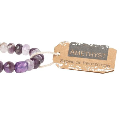 Scout® Amethyst Stone Bracelet - Stone of Protection - GRACEiousliving.com