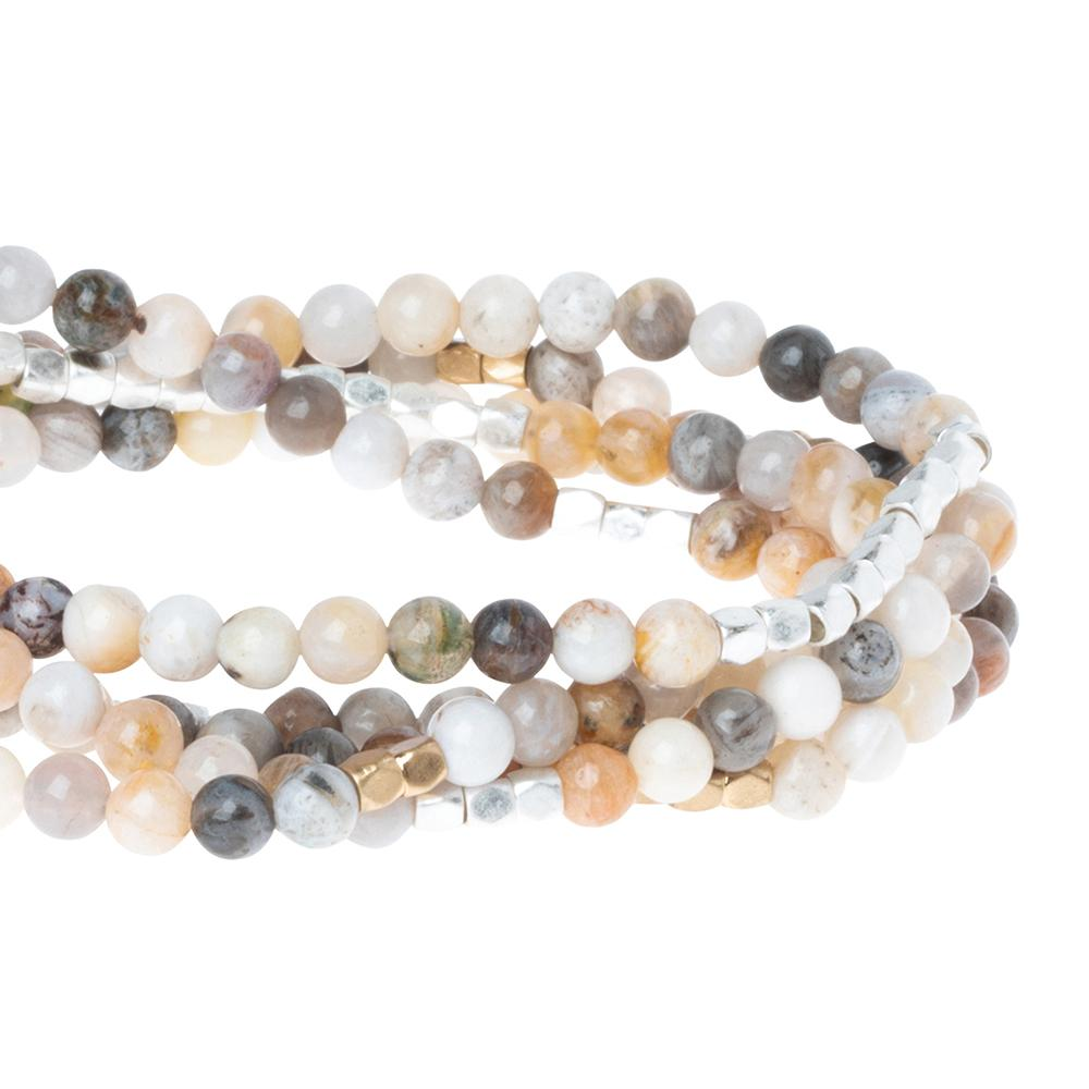 Mexican Onyx - Stone of Confidence Wrap Bracelet or Necklace - GRACEiousliving.com