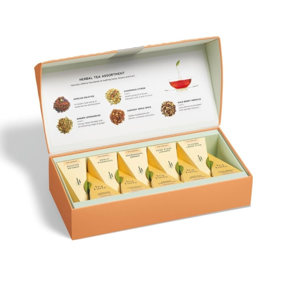 Tea Forte® Herbal Tea Assortment in Petite Presentation Box - GRACEiousliving.com