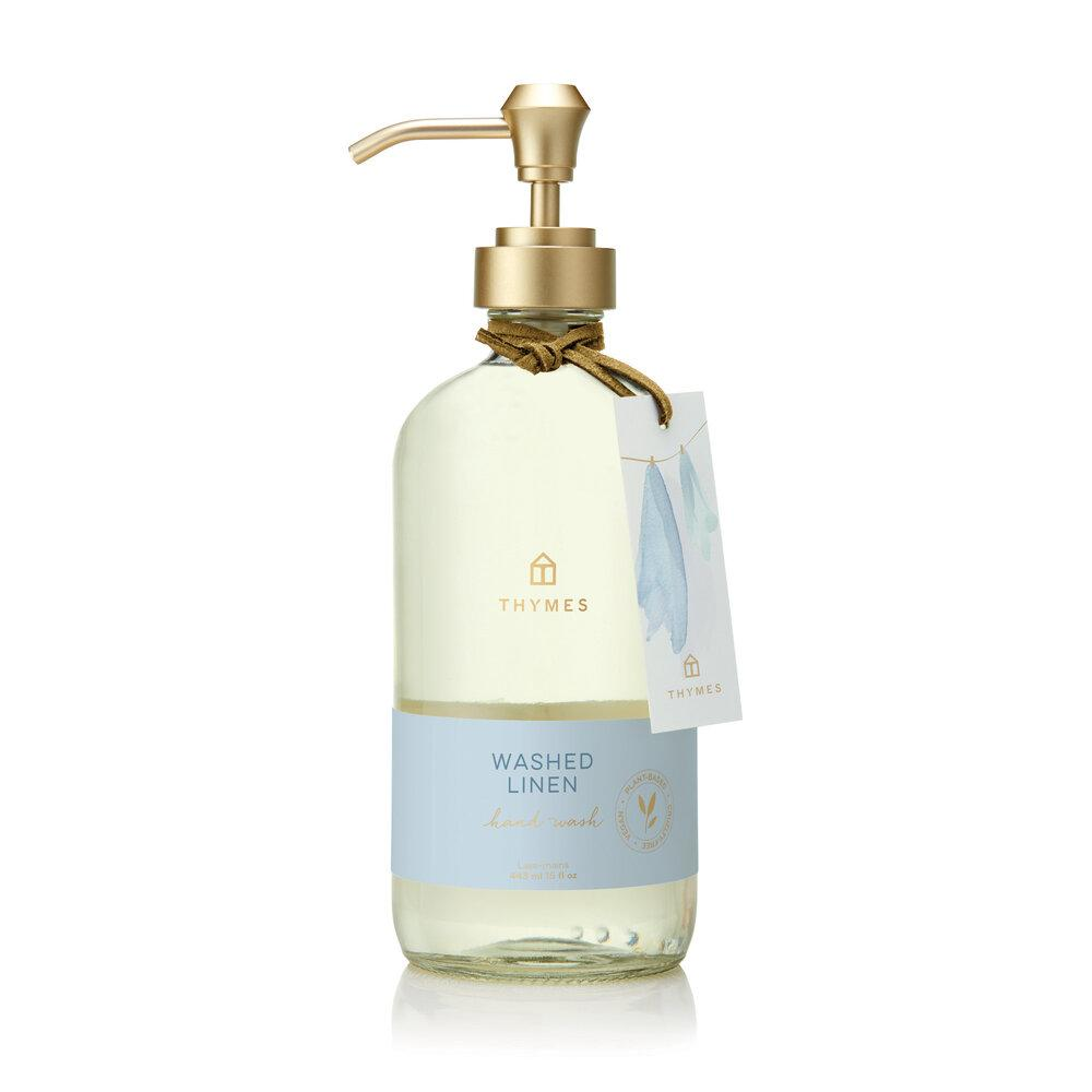 Thymes Washed Linen Large Hand Wash - GRACEiousliving.com