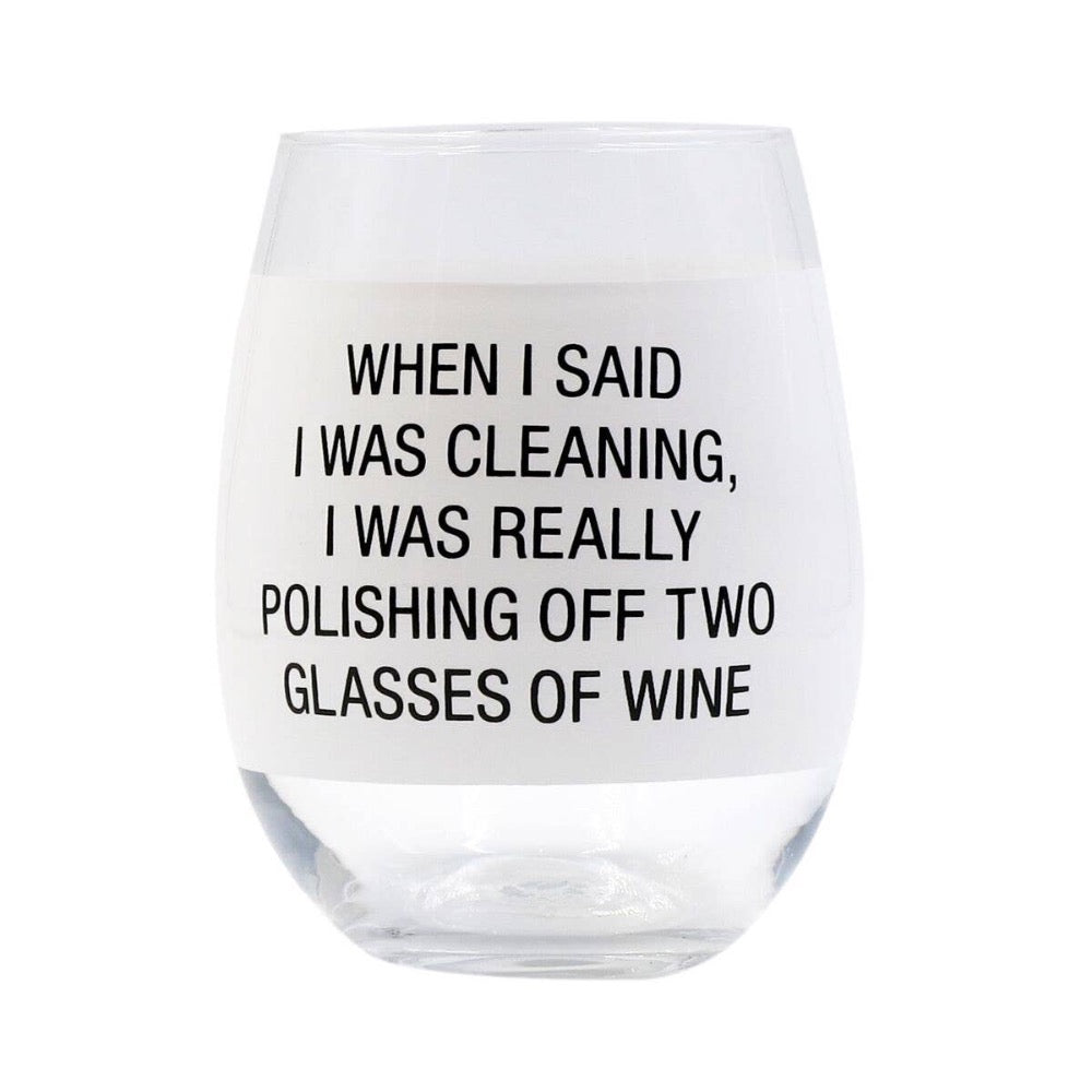 About Face Designs - Polishing Off Wine Glass - GRACEiousliving.com