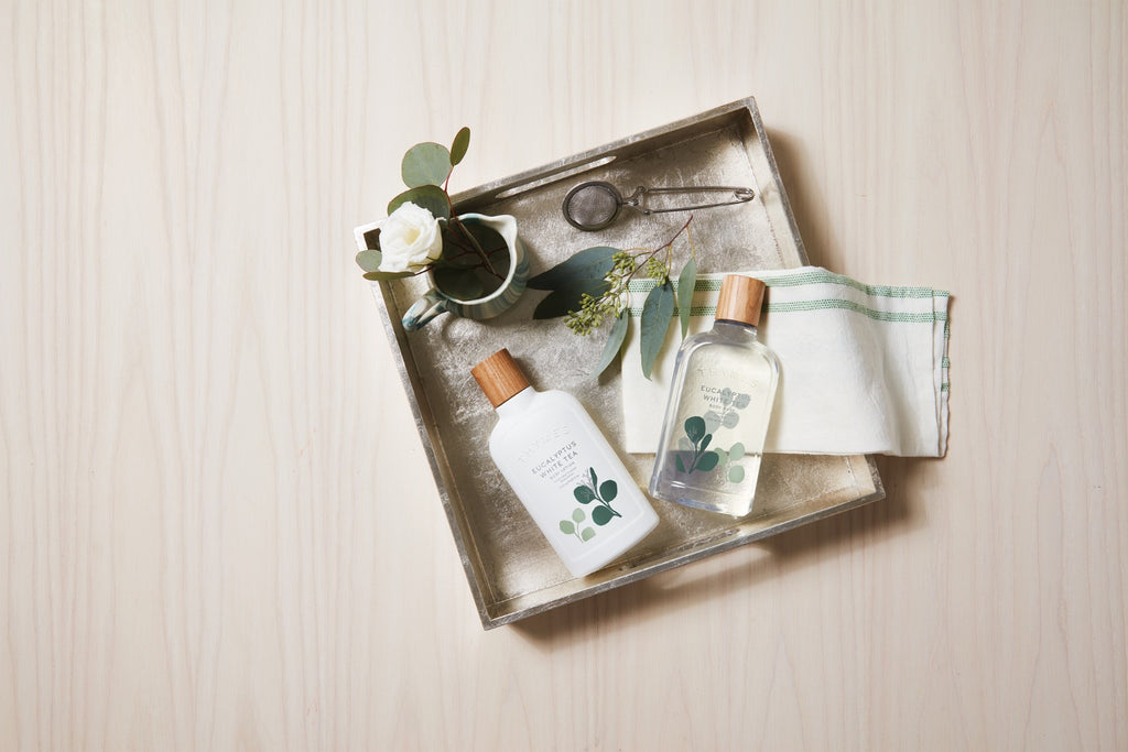 Thymes® Eucalyptus White Tea Body Lotion - GRACEiousliving.com