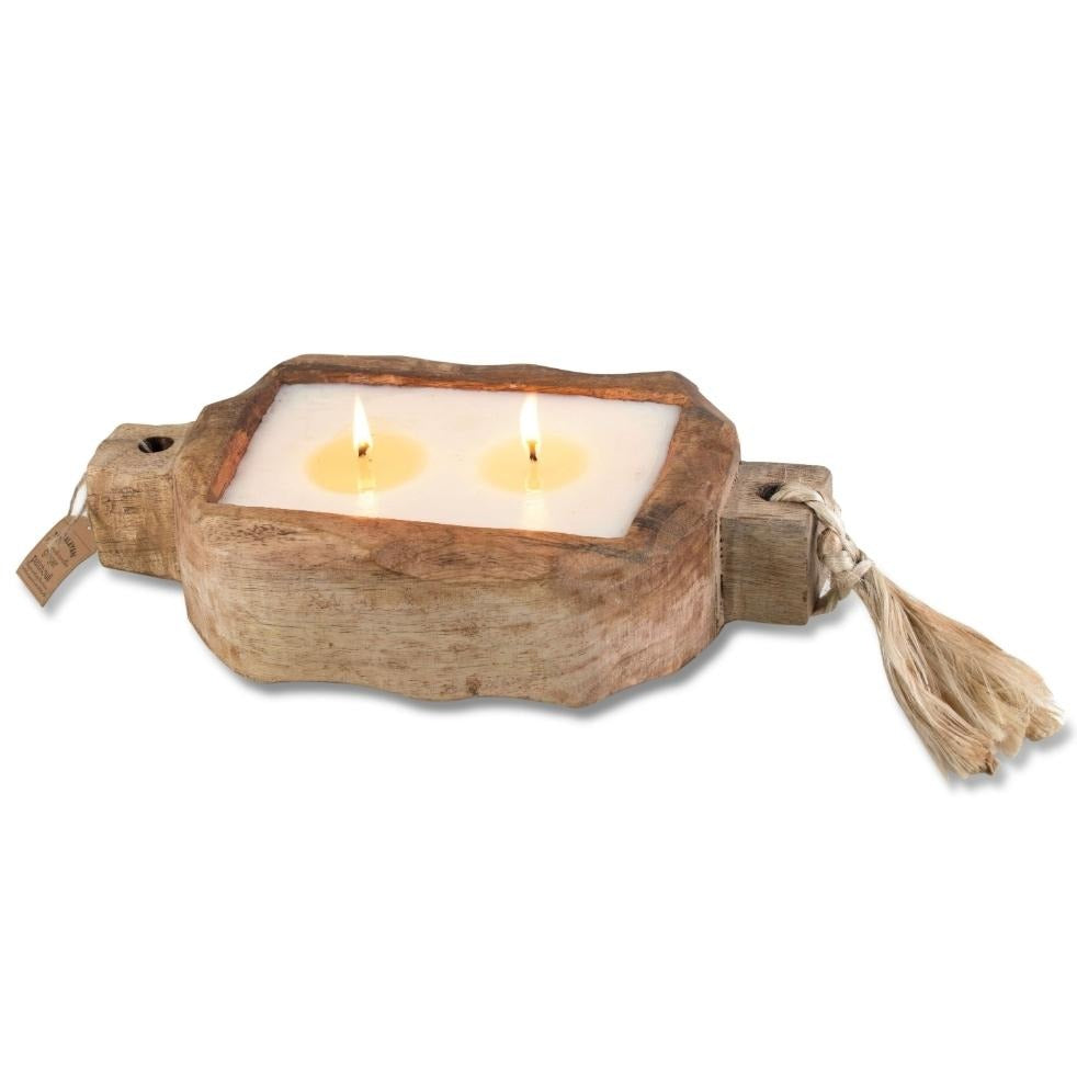 Himalayan® Grapefruit Pine Driftwood Small Tray Candle - GRACEiousliving.com