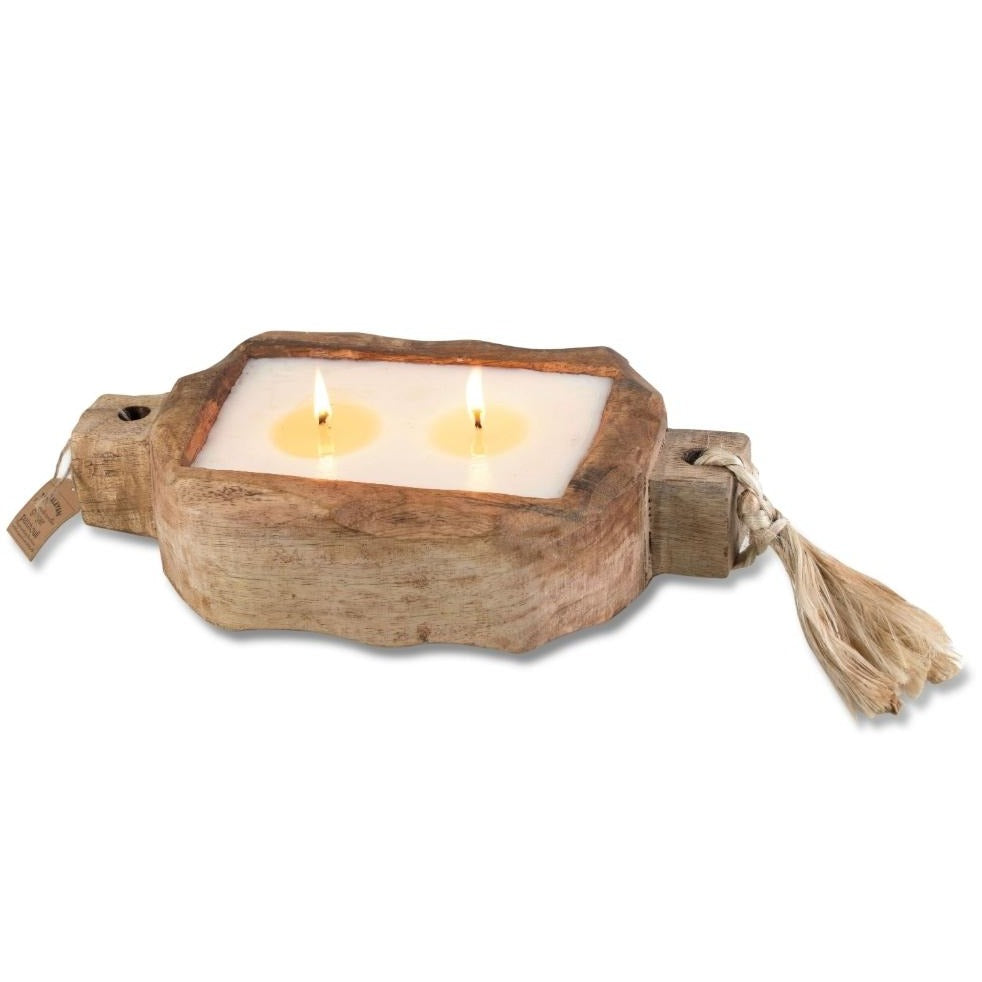 Himalayan® Sunlight Forest Driftwood Small Tray Candle - GRACEiousliving.com