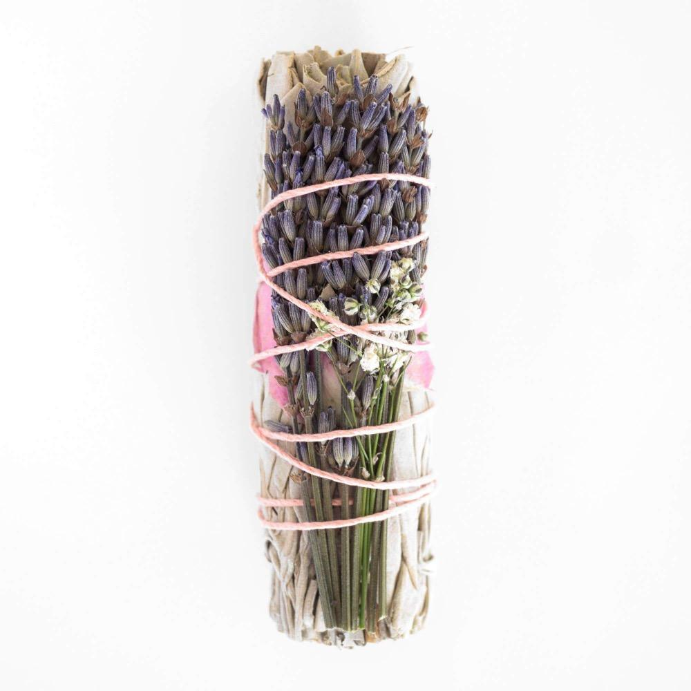 Lavender Calming California Sage Smudge Stick - GRACEiousliving.com