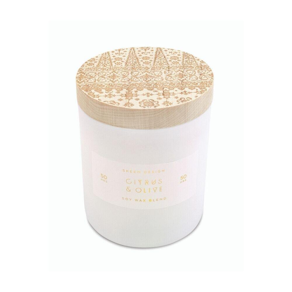 Skeem Design® Citrus Olive Soy Candle - GRACEiousliving.com
