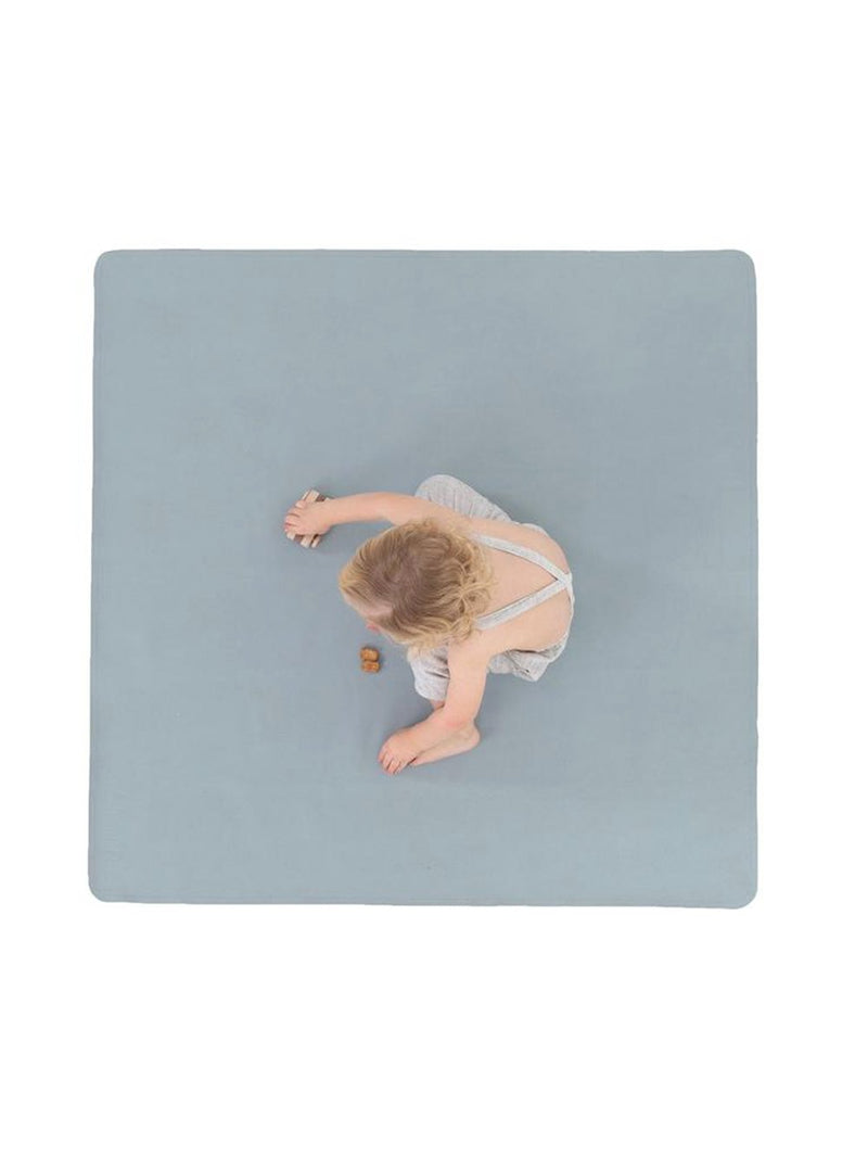 Gathre Mini Leather Highchair Mat, Tummy Time Mat, Playmat in Heron