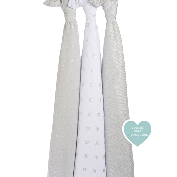 Metallic Charm -  3 Pack Classic Swaddles