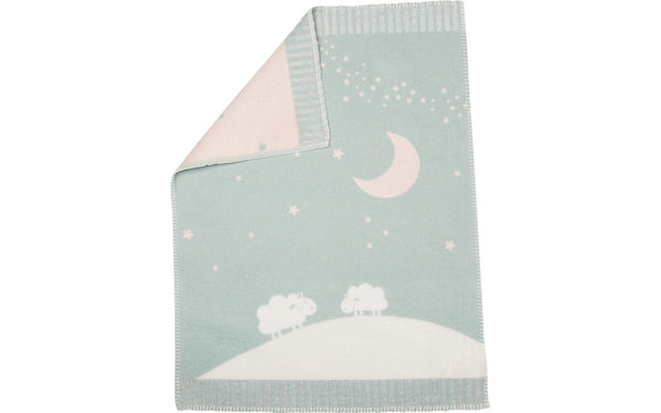 FINN blanket in Sheep Moon Stars - green