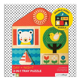 Wood - Day & Night 2-In-1 Tray Puzzle