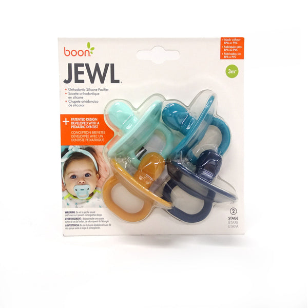 Jewl Orthodontic Silicone Pacifier - 4 Pack