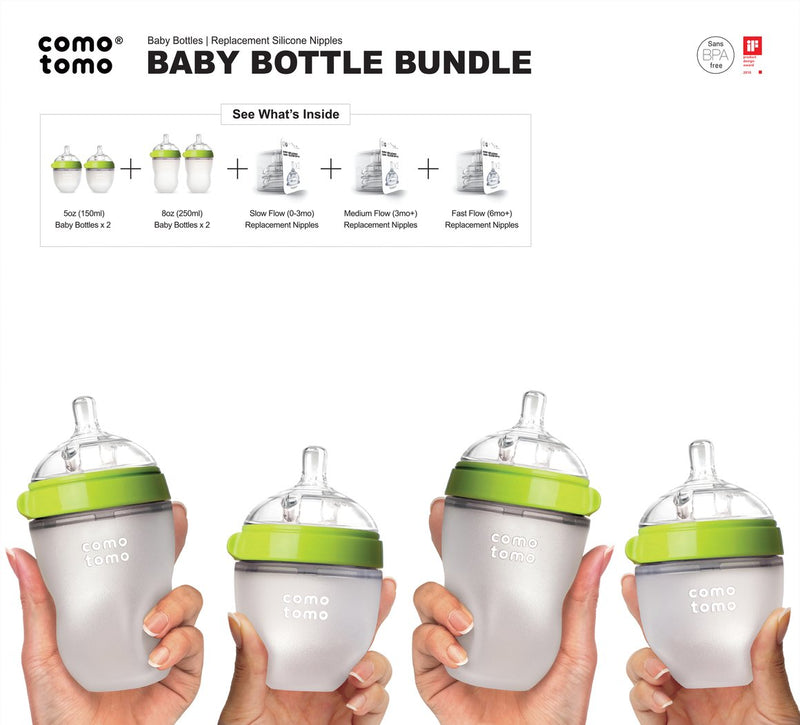 Silicone Bottle Bundle - Comotomo