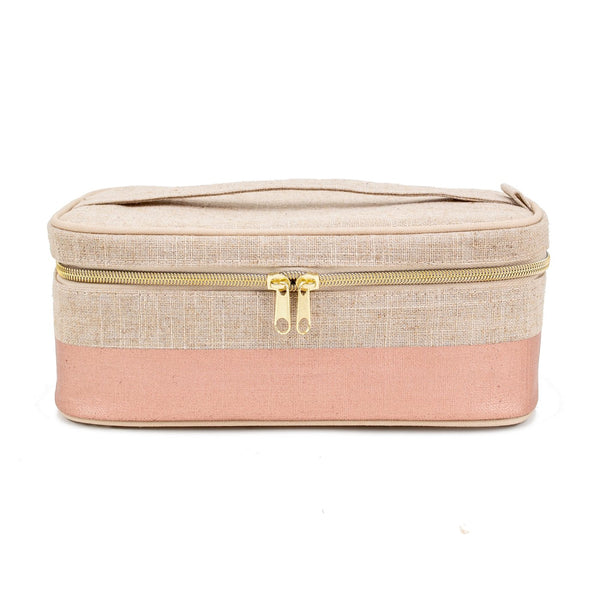LINEN - ROSE GOLD BEAUTY POCHE